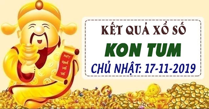 Xổ số Kon Tum Chủ Nhật hôm nay ngày 17 tháng 11 năm 2019 - XSKT 17/11