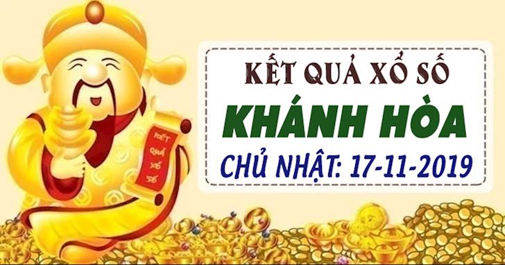 XSKH 17/11 - Kết quả xổ số Khánh Hòa hôm nay chủ nhật ngày 17 tháng 11 năm 2019