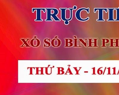 Kết quả xổ số Bình Phước hôm nay thứ 7 - XSBP ngày 16-11-2019