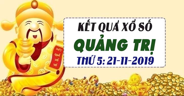 Xổ số Quảng Trị hôm nay ngày 21 tháng 11 năm 2019 - XSQT 21/11