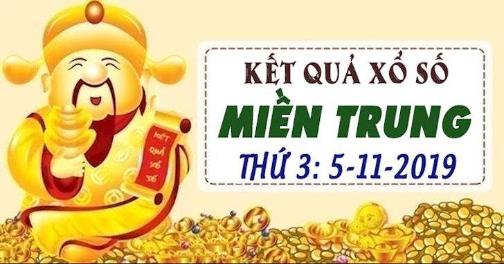 Xổ số Miền Trung thứ 3 ngày 5 tháng 11 - KQXS XSMT 5/11/2019