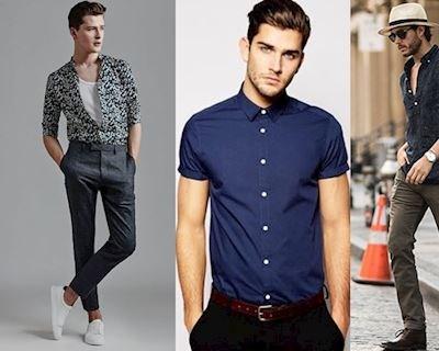 Hướng dẫn cách mặc áo sơ mi ngắn tay dành cho nam giới