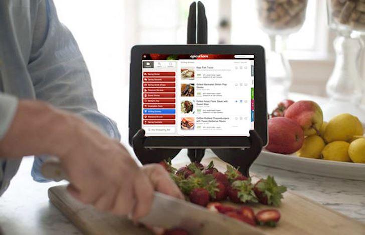 iPad hỗ trợ nấu ăn