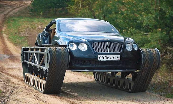 Siêu xe Bentley độ thành xe tăng, càn quét mọi địa hình