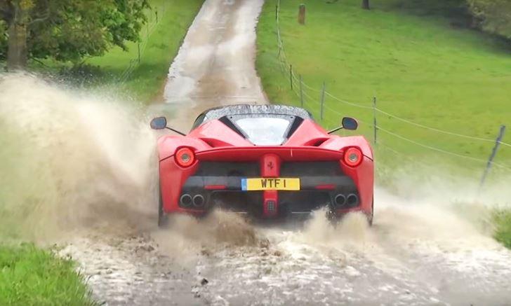 Mang siêu xe triệu đô LaFerrari dầm mưa, lội nước, offroad và cái kết
