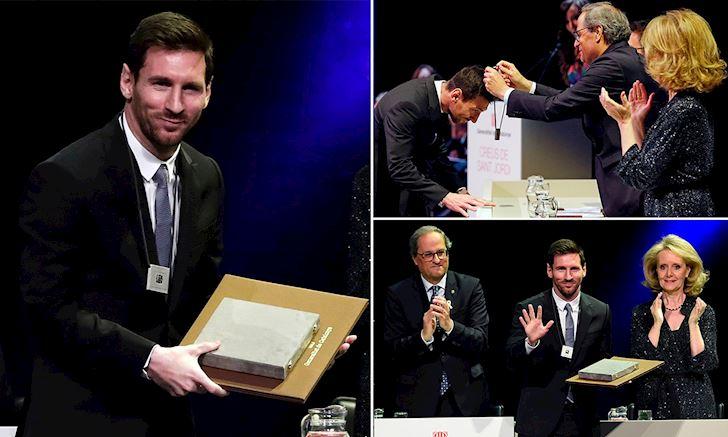 Ganh team cat luc Messi chinh thuc co giai thuong dau tien anh 2