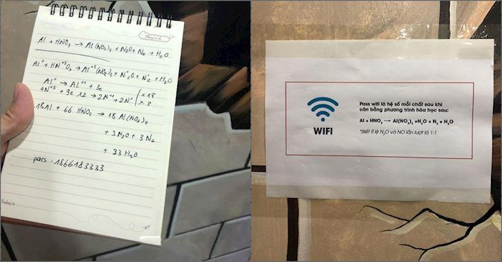 'Giải phương trình Hóa có pass WiFi' Bây giờ anh em đã hiểu tầm quan trọng của nó chưa?