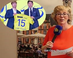Video clip: Lãnh đạo Sint Truiden hớn hở đọc diễn văn đón Công Phượng