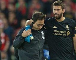Liverpool nhận tin 'sét đánh' về chấn thương của Alisson