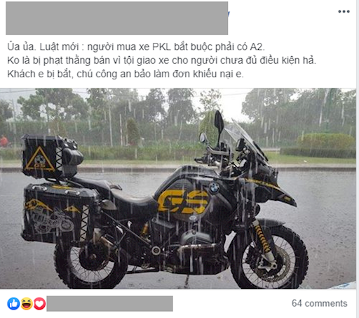 ban xe cho nguoi chua co bang lai co the bi hon 10 nam tu 1