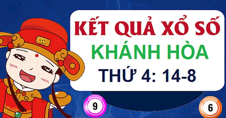 XSKH 14/8 - Kết quả xổ số Khánh Hòa thứ 4 ngày 14-8