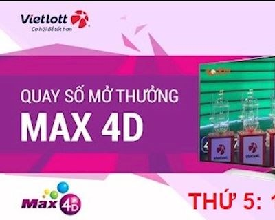 Kết quả xổ số Vietlott MAX-4D thứ 5 ngày 15/8