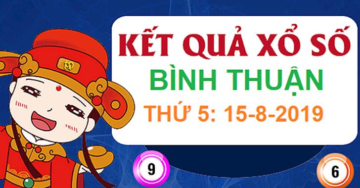 Kết quả xổ số Bình Thuận thứ 5 hôm nay ngày 15/8 - Kết quả XSBTH