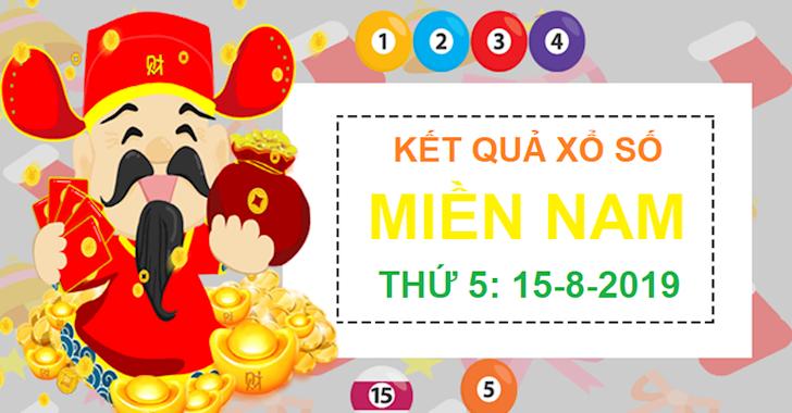 Kết quả xổ số thứ 5 miền Nam Hôm Nay - XSMN ngày 15/8