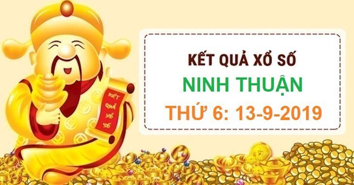 Xổ số thứ 6 XSNT - Kết quả xổ số Ninh Thuận ngày 13-9-2019