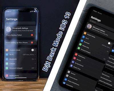 Cách bật chế độ tối Dark Mode trên iOS 13 trong vòng 3 nốt nhạc
