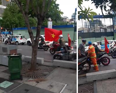 Ép ngã cả gia đình có con nhỏ đội mô tô dửng dưng bỏ đi
