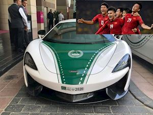 Siêu xe McLaren mở đường cho đội tuyển Việt Nam