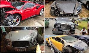 Những tai nạn siêu xe tiền tỷ đình đám tại Việt Nam
