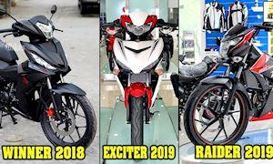 Yamaha Exciter, Honda Winner, Suzuki Raider: phù hợp với những ai?