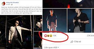 Facebook triệt đường sống ảo của cư dân mạng chỉ hiển thị tối đa 10 nghìn lượt like cho một bài đăng