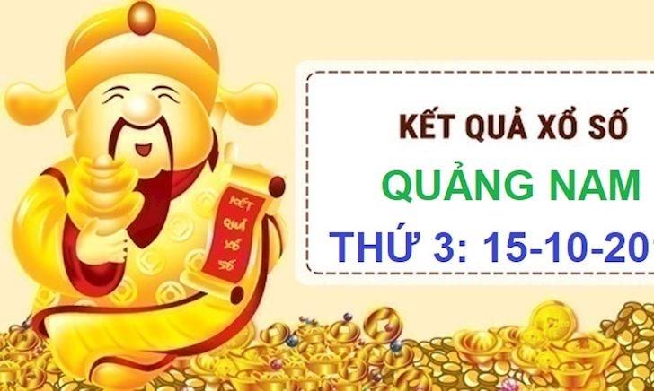 Kết quả xổ số thứ 3 Quảng Nam hôm nay - XSQNA ngày 15-10-2019