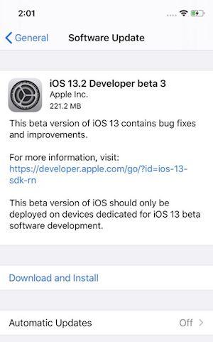 Den han lai len iOS 13 2 Developer Beta 3 da san sang 1