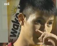 Video clip: Trọng Hùng rưng rưng nước mắt, xin lỗi khán giả Thanh Hóa