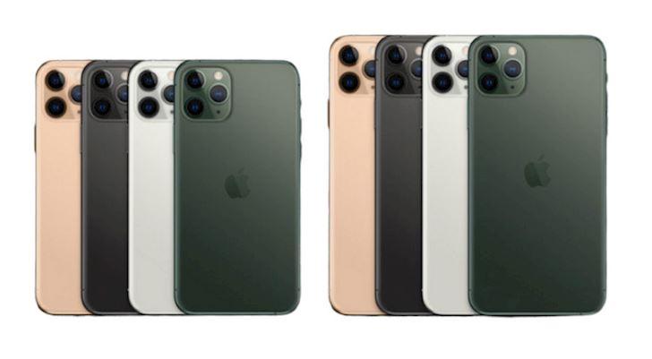 Hình ảnh iPhone 11 Pro (trái) và Pro Max (phải) - Ảnh:Apple