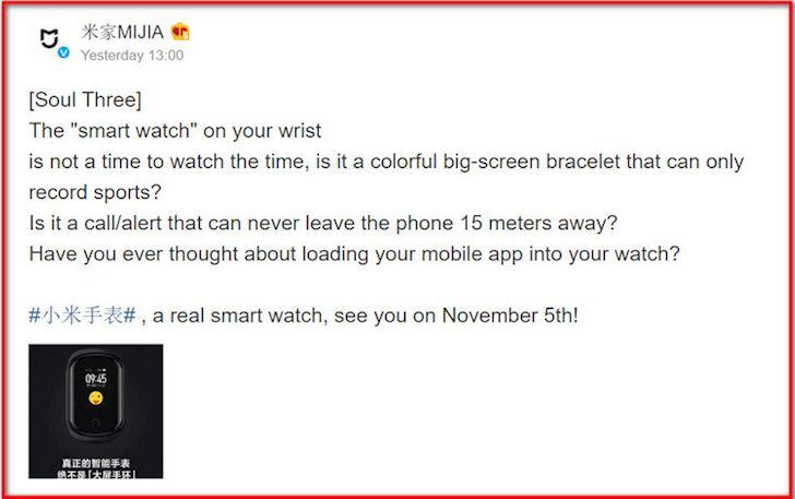 Xiaomi Mi Watch chay Wear OS co the se ra mat vao thang sau 2