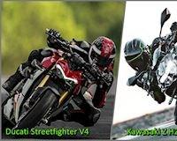 Kawasaki Z H2 và Ducati Streetfighter V4, cuộc đấu của những gã cơ bắp