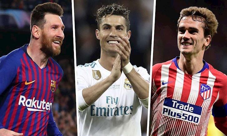 Messi và Ronaldo sát cánh ở Đội hình hay nhất La Liga 10 năm qua