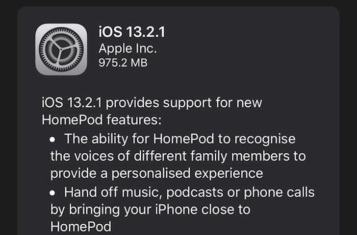 Apple tung iOS 13 2 1 chi 48 gio sau ban cap nhat 13 2 chinh thuc 1