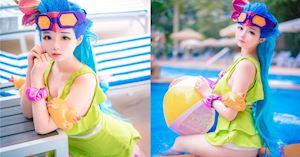 Cosplay Zoe Tiệc Bể Bơi khiến game thủ chỉ muốn lao ngay ra tắm