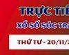 Kết quả xổ số Sóc Trăng thứ 4 hôm nay 20/11 - Trực tiếp XSST 20/11