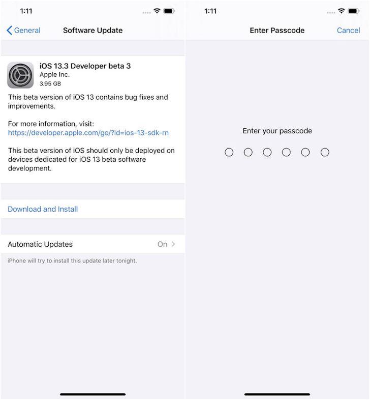 Apple tung ra iOS 13 3 Beta 3 voi nhieu tuy chon tien dung 1