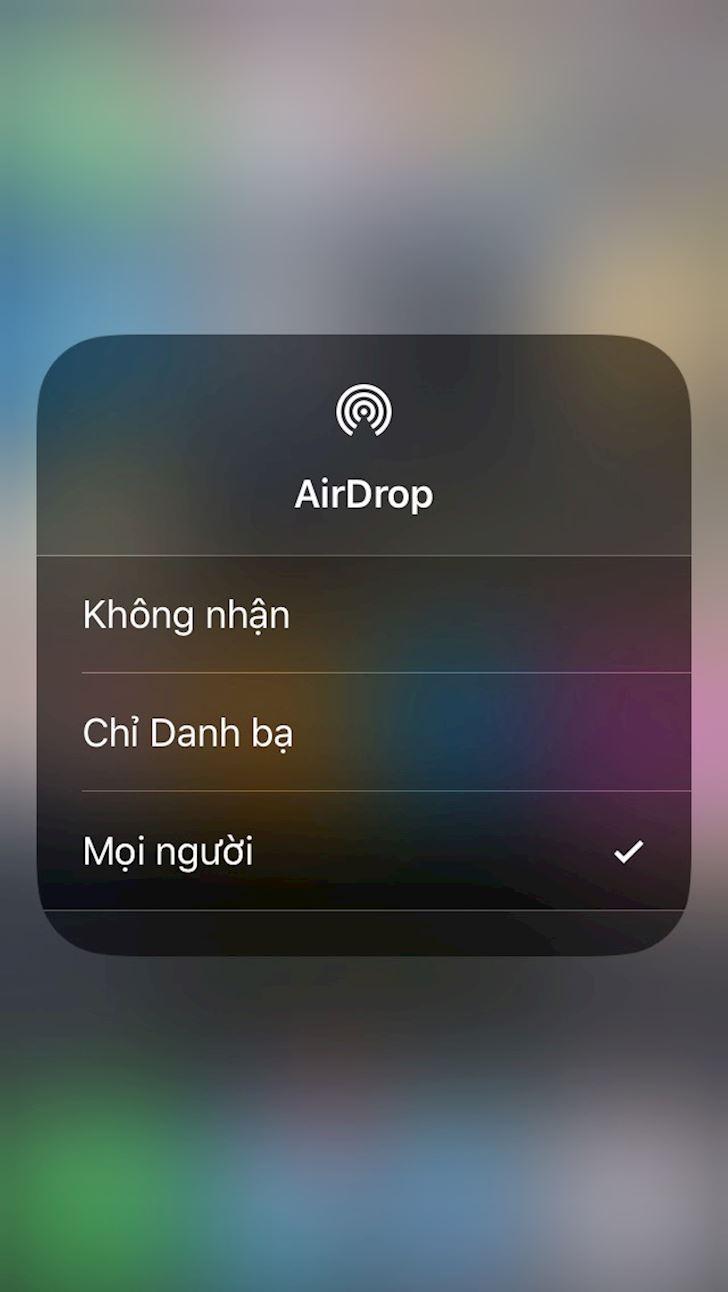 Cach bat Airdrop tren iPhone X khong duoc khong an tien 3