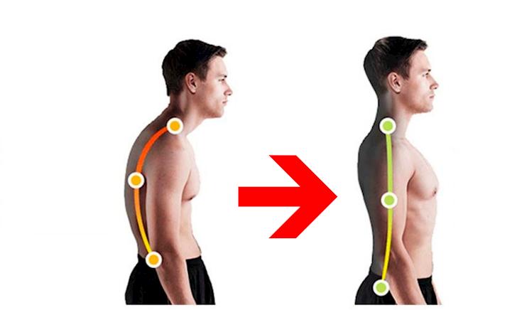 Cho dáng đi nam tính, mạnh mẽ với bài tập khắc phục gù lưng