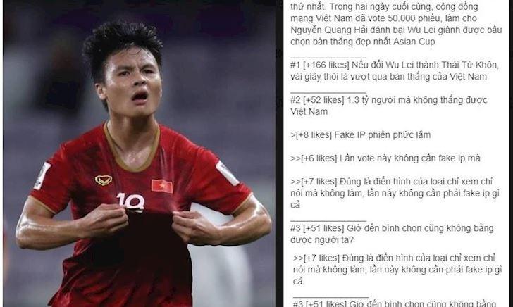 NÓNG trên mạng xã hội ngày 11/2: Dân mạng Trung Quốc vẫn cay vì thua vote Việt Nam