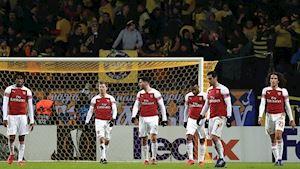 CỰC SỐC: Arsenal chơi xấu, thua thảm trên đất Belarus