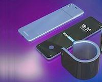 Lộ diện concept điện thoại màn hình gập mới Samsung với màn hình uốn cong như đồng hồ thông minh