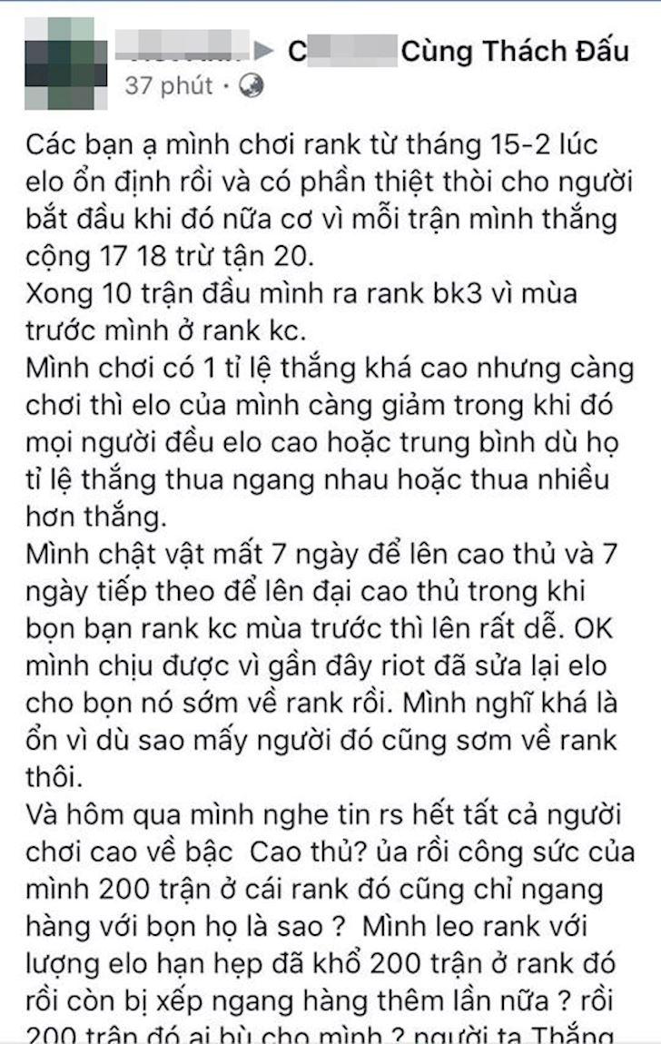 LMHT: 200 tran moi len duoc Dai Thach Dau, Riot khien game thu uc che vi reset rank