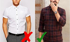 Cách diện áo sơ mi cho người mập che khuyết điểm