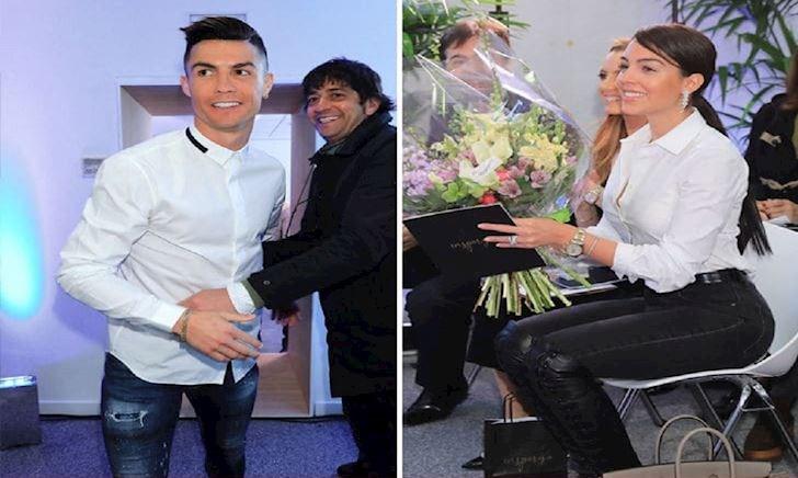 Ronaldo và bạn gái lịch lãm về Madrid mở salon tóc