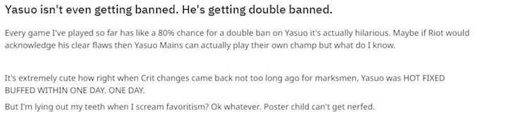 Game thu phan no tot do khi dang Yasuo luon bi cam