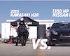 Kawasaki H2R cho hàng loạt siêu xe hít khói