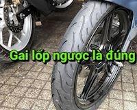 Lốp có gai ngược chứ không phải bị lắp ngược