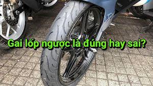 Lốp có gai ngược, vậy có thật sự bị ngược không?