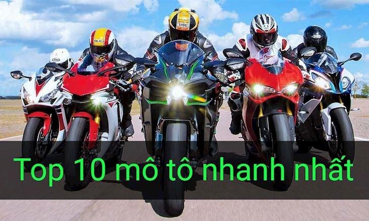 Top 10 siêu mô tô có tốc độ nhanh nhất thế giới P1