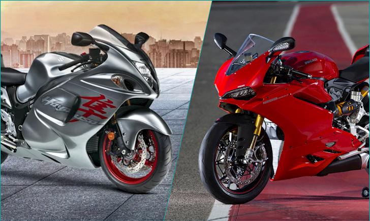 Ducati 1299 Panigale quyết chiến tốc độ với Suzuki Hayabusa